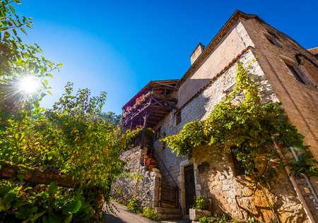 Beautiful medieval village of Saint Cirq Lapopie in Occitanie, France Stock Photo