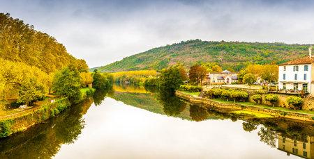 Beautiful medieval village Saint Antonin Noble Val in Occitanie, France
