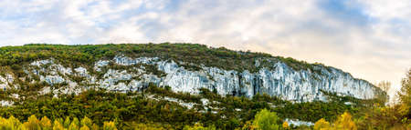 Causses and cliffs at Saint Antonin Noble Val in Aveyron in Occitanie, France Stock Photo