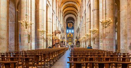 Interior of the Saint Sernin basilica in Toulouse in Occitanie, France