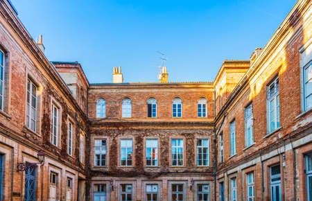 Courtyard in Toulouse in Occitanie, France