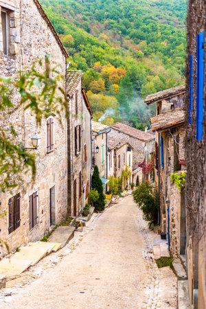 Medieval village of Bruniquel in Occitanie, France