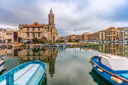 Sète cityscape in the Hérault in Occitanie, France Editorial