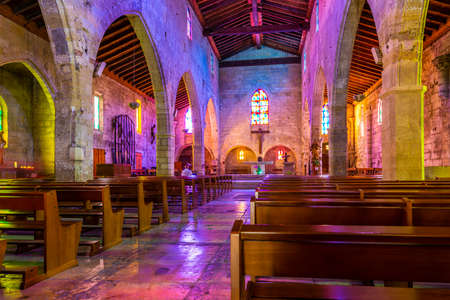 inside the church of Aigues-Mortes in the Gard, Occitanie, France