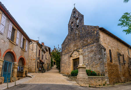 Bruniquel medieval village on the river Aveyron in Occitanie, France