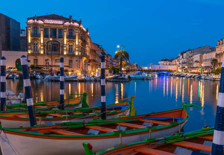 Quays and the royal canal in Sète, in the early morning, in Hérault, in Occitanie, France Editorial