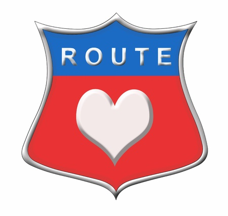 Route Heart sign Stock Photo - 11091560