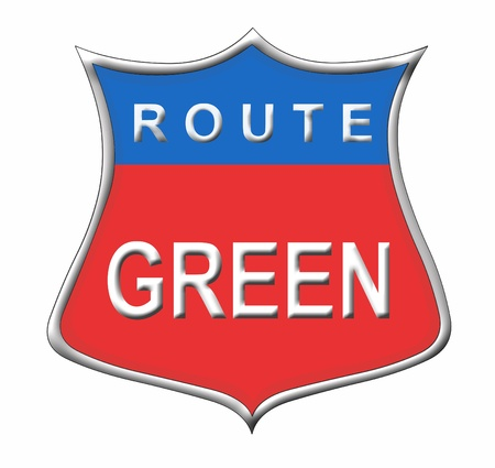 Route Green Stock Photo - 11091584