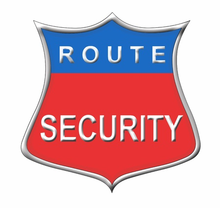glanz: route security Stock Photo