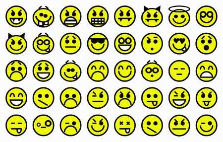smileys yellow Stock Photo - 11851099