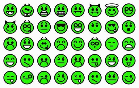 Smileys neon green photo