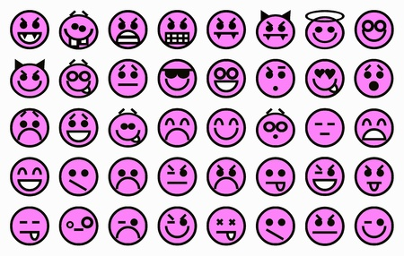 Smileys Purple Stock Photo - 11851098
