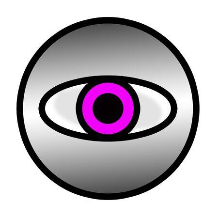 Big Brother is watching you! Purple Eye photo