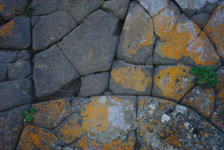 natural stone wall, geological phenomenon Imagens