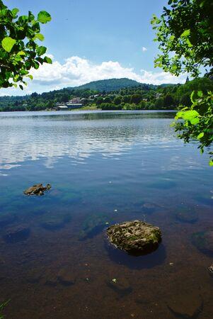Lake Aydat, Auvergne, Puy-de-Dome