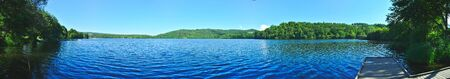 panoramic view of Lake Aydat, Auvergne, Puy-de-Dome