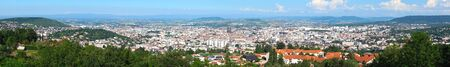 panoramic shot of the city of Clermont-Ferrand, Auvergne, Puy-de-Dome, France