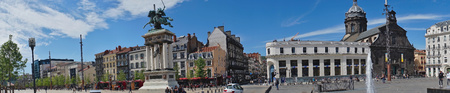 panoramic shot of the Place de Jaude in Clermont-Ferrand. Puy-de-Dome, France.