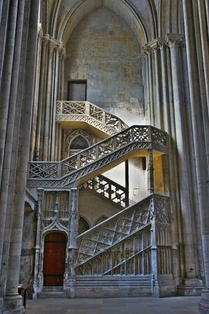 Notre Dame de Rouen Cathedral, Stairs of booksellers in the north transept.