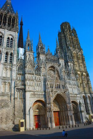 Cathedral Notre-Dame of Rouen. Facade and butter tower.