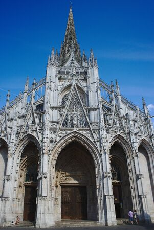 facade of the church Saint-Maclou in Rouen. Gothic style. Normandy Reklamní fotografie