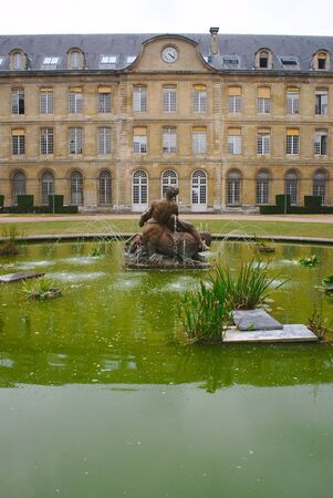 fountain of the garden of the town hall of Rouen in Normandy, Seine-Maritime, France