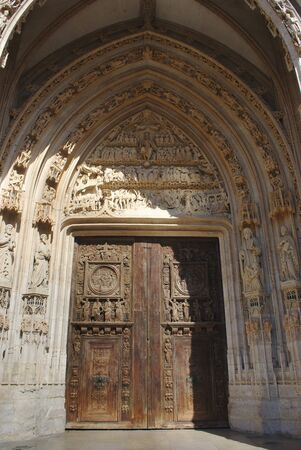details of the door of the church Saint-Maclou, in Rouen, Normandy Reklamní fotografie
