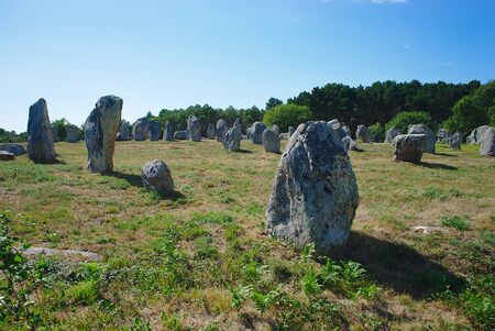 Carnac, alignments of Celtic menhirs. Brittany, Morbihan. la France