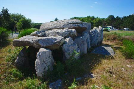 Carnac, Celtic dolmen. Brittany, Morbihan. la France