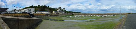 panoramic view of the port of Binic in the Brittany coast Reklamní fotografie