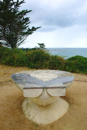 orientation table by the sea, in Etables sur Mer, Brittany, in the Côtes dArmor