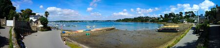 Port of the monkss island (ile aux moines), in Brittany, in the Cotes dArmor