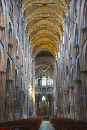 Cathedral Notre-Dame of Rouen. Central nave 報道画像