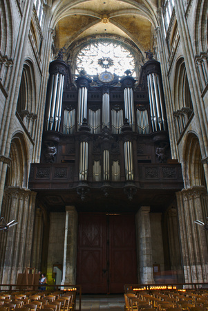 organ of the Notre-Dame de Rouen cathedral 報道画像
