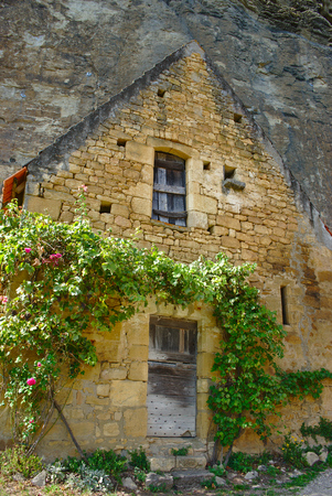 ruin stone gilded at la roque gageac, dordogne, france Publikacyjne
