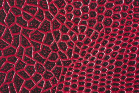 texture, red leather background. Crocodile skin effect 版權商用圖片