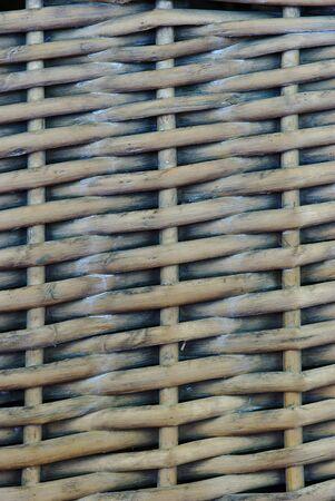 woven wicker pattern, rattan, close up Banco de Imagens