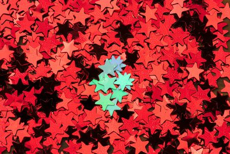background consisting of a cluster of small bright red and white stars. For Christmas and New Year