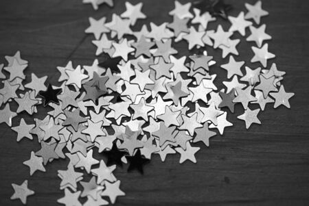 background, background consisting of small bright stars. For Christmas; Christmas and New Year. In black and white