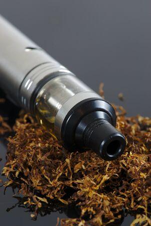 electronic cigarette tobacco taste. Close up, macro. 写真素材