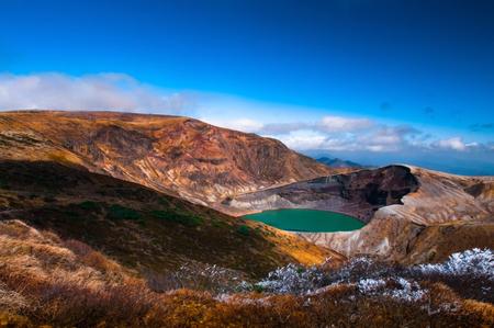 Cráter del volcán del monte Zao en Yamagata, Japón. Foto de archivo - 82237139
