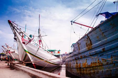 Fishing ships at Sunda Kelapa port. Jarkata, Indonesia.