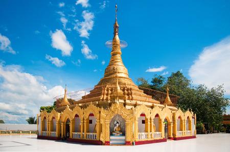 Myanmar Pagoda in Kawthaung, Victoria Point, Myanmar.