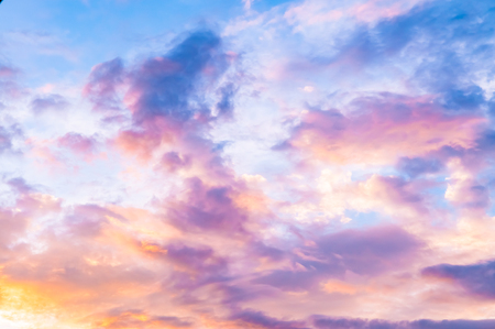 pinky: Pinky , Vanilla , candy sky with scattered clouds