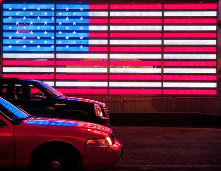 LED American Flag  at Times square, New York Stock fotó