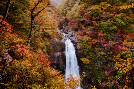 Famous Akiu Waterfall in Akiu Osen, Sendai, Japan 写真素材