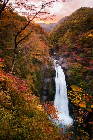 Famous Akiu Waterfall in Akiu Osen, Sendai, Japan during autumn. Stock fotó - 82451647