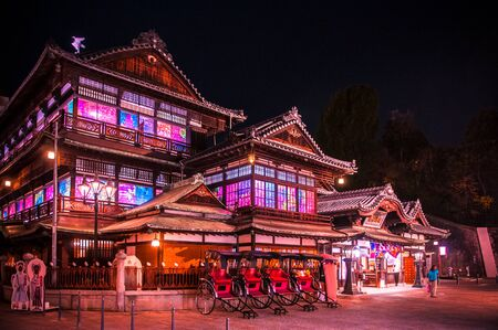 Historic bath house of Dogo onsen, Ehime, Japan.