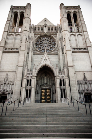 Front facade of Grace Cathedral in San Francisco