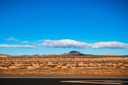 Interstate 15 highway from California to Nevada. Stock Photo